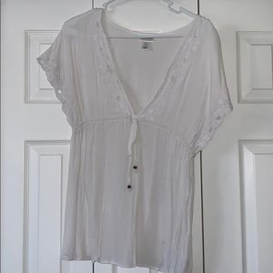 Motherhood maternity white shirt